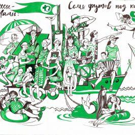 Творческая мастерская Атрибут принимает участиев международном художественном пленэре»Днепровский паром»